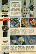 1970 PAPER AD Watch Hot Wheels Superman Bozo Space Explorer Barbie Capsule Racer