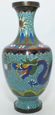 SUPER QUALITY 19TH CENTURY WELL SHAPED CHINESE CLOISONNE DRAGON VASE