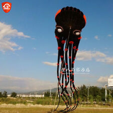 2016 NEW 3D eyes  15m Black 1 Line Stunt Parafoil Octopus POWER Sport Kite