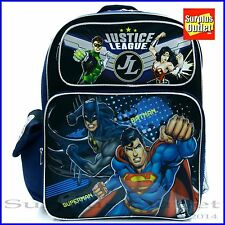 """Justice League Boys 16"""" Large Backpack Book Bag For School"""