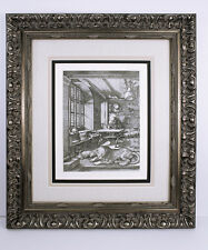 "Sharp 1800s DURER Engraving ""St.Jerome in His Study"" Original DURAND Framed COA"