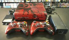 Microsoft Xbox 360 S Gears of War 3 Limited 320 GB Red & Black 2 Gears Controls