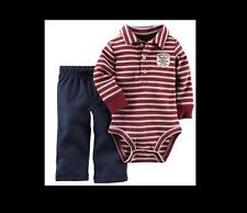 NWT - Carters - BABY BOY 2 Piece OUTFIT Daddys Little Hot Shot ALL STAR 9 Months