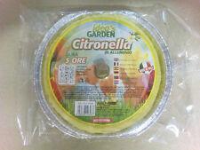 CANDELA TORCIA CERO CITRONELLA ANTIZANZARE CM.16 ALLUMINIO