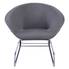 New Modern Gray Accent Chair Leisure Arm Sofa Lounge Living Room Home Furniture