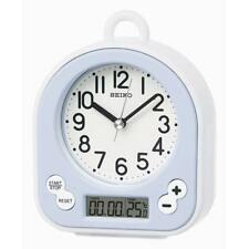 Seiko QHG042L Modern High Splash Resistant Bathroom Alarm Clock - White / Lalic