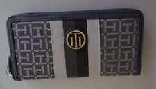 Tommy Hilfiger Women's Gray Zip Around Wallet New with Tags SALE