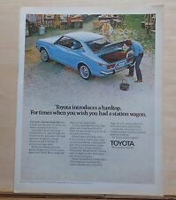 1971 magazine ad for Toyota - Corona hardtop, instead of a station wagon