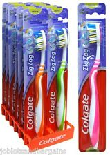12 x Colgate ZigZag Full Toothbrush Medium - Deep Interdental Clean Toothbrushes