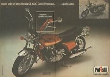X9639 POLISTIL - Honda GL1000 Gold Wing - Pubblicità 1977 - Advertising