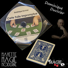 DUVIVIER - Carte folle impromptue + DVD - tour de magie - Bicycle