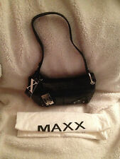 Maxx New York Croco Embossed Leather Zip Top Shoulder Bag
