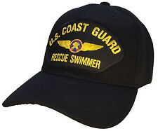 US Coast Guard Rescue Swimmer Hat Black Ball Cap USCG SAR Coast Guard Veteran