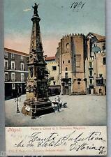 NAPOLI Piazza e Chiesa di S. Domenico Maggiore PC Viaggiata 1904