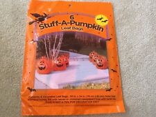NIP Halloween Decoration Six 6 Stuff A Pumpkin Yard Leaf Bags