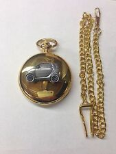 Smart Car ref240 Pewter Effect emblem gold quartz pocket watch