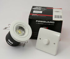 White Fire Rated gu10 Luce verso il basso con 5 LED Dimmerable wattbulb £ 4.99