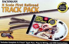 Bachmann N Scale Train E-Z Nickel Silver/Gray First Railroad Track Pack 44896