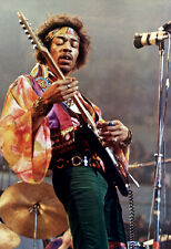 Jimi Hendrix Poster, Live in Concert, Playing Guitar, Singer, Songwriter