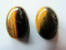 2 Tigereye oval cabochons 18mm x 13mm brown tigers eye