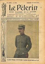Portrait Capitaine Georges Bellanger Raid Aérien Paris-Pau 1911 ILLUSTRATION