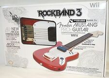 NEW Mad Catz Rock Band 3 Wii-U Wireless Fender Mustang Pro Guitar SU0-RB3 96563