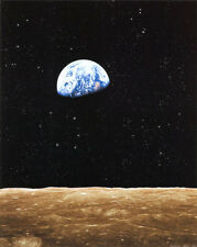 Earth Rise from Moon Art Poster Print, 16x20