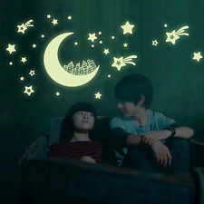 Moon Stars Night Light Luminous Sticker Home DIY Decoration Wall Sticker Decal