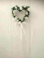 Ivory Flowers Wedding Bridesmaid Flower Girl Fairy Princess Angel Wand