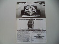 advertising Pubblicità 1978 HEUER CHRONOSPLIT MANHATTAN GMT