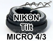 NIKON Lens to Micro 4/3 Four Thirds Lumix Pen CameraCamcorders. 8° TILT Adapter