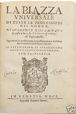 La piazza universale di tutte le professioni del mondo -antikes Buch aus Venedig