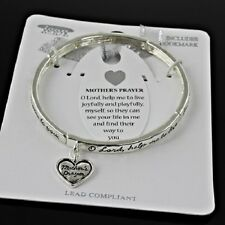 Mother's Prayer Heart Love Family Children Lord Joy Play Jewelry Bracelet #530