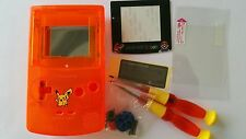 CARCASA COMPLETA+PANTALLA COMPATIBLE GAME BOY COLOR MARIO NEW CLEAR NE