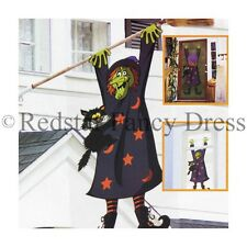 CRASHED STREGA 3D HALLOWEEN PORTA POSTER COSTUME DECORAZIONE ACCESSORIO 1,5 m