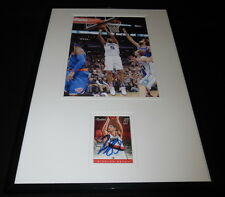 Nicolas Nic Batum Signed Framed 11x17 Photo Display Hornets Blazers