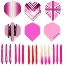 Darts. Pink Dart Flights and Shafts. Flights & Stems Set. Harrows Diva. Unicorn