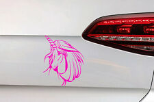 Einhorn Aufkleber Girl Auto Pferd Sticker JDM  Unicorn Decal Horse