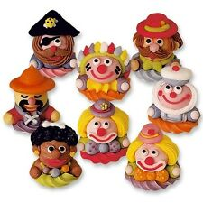 3D EDIBLE SUGAR CIRCUS CHARACTER CUPCAKE TOPPERS CAKE DECORATIONS CLOWN