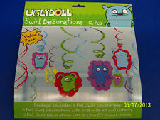 Uglydoll Ugly Dolls Cartoon Birthday Party Supplies Hanging Swirl Decorations