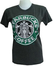 Women Youth Top Shirt STARBUCKS COFFEE CASUAL SOFT COTTON free sz VINTAGE PRINT