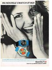 PUBLICITE ADVERTISING 1986 SWATCH  ma nouvelle swatch & moi  collection montres