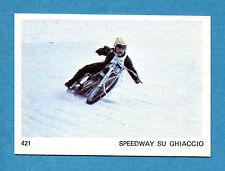AUTO E MOTO - Figurina-Sticker n. 421 - SPEEDWAY SU GHIACCIO -New