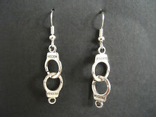 Handcuff Earrings * Novelty Jewellery * police bondage fancy dress