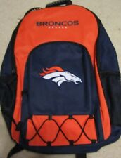 2016 NWT NFL LICENSED Denver Broncos Large Backpack School Bag Book Laptop Ruck