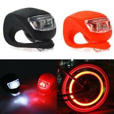 2X Silicone Bike Bicycle Cycling Head Front Rear Wheel LED Flash Light Lamp