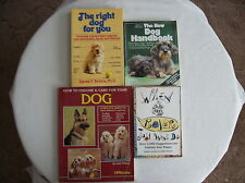 Lot of 4 Books on Choosing Naming and Care for Your Puppy or Dog
