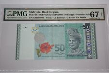 (PL) NEW: RM 50 GJ 2999999 PMG 67 EPQ ZETI NICE FANCY ALMOST SOLID 9 NUMBER UNC