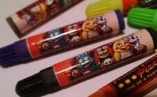 12ct FNAF FIVE NIGHTS AT FREDDY'S birthday party favor markers, assorted colors