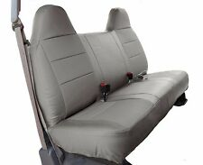 FORD F-250 350 GREY LEATHER-LIKE CUSTOM MADE FIT FRONT BENCH SEAT COVER